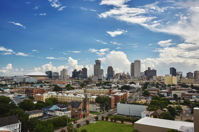 Downtown New Orleans viewed from the hotel during the day